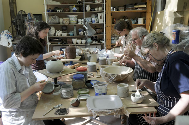 Working time on a Pottery Course